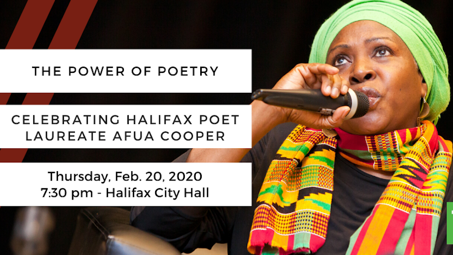 Power of Poetry: Celebrating Halifax Poet Laureate Afua Cooper