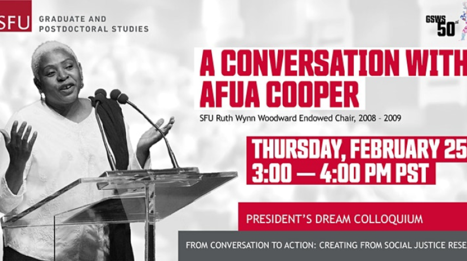Black History Month Events with Dr. Afua Cooper